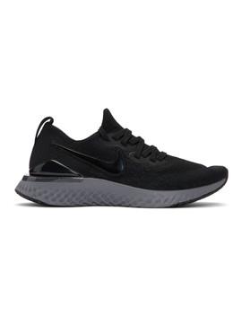 Black & Grey Epic React Flyknit 2 Sneakers by Nike
