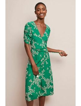 New Anthropologie Estelle Floral Wrap Dress By Faithfull Sz 4 by Anthology