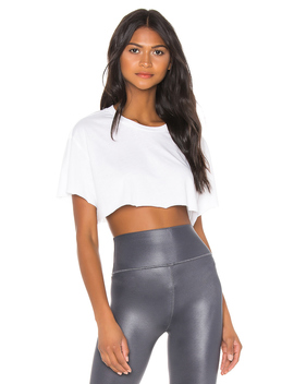 Cropped Short Sleeve Top by Alo