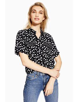 Heart Short Sleeve Shirt by Topshop