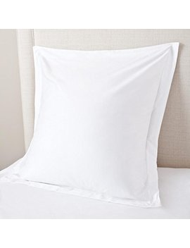 European Square Pillow Shams Set Of 2 White 600 Thread Count 100% Natural Cotton Pack Of Two Euro 26 X 26 Pillow Shams Cushion Cover, Cases Super Soft Decorative (White, European 26''x26'') by Vedanta Home Collection