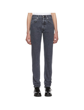 Grey Hi Straight Jeans by Helmut Lang