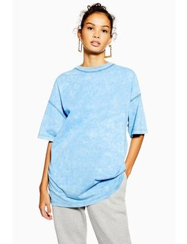Petite Acid Wash Oversized T Shirt by Topshop