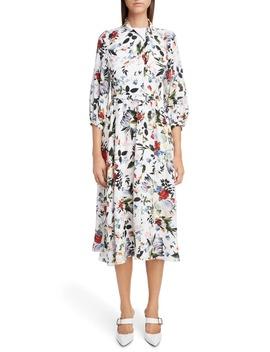 Floral Cotton Poplin Midi Dress by Erdem