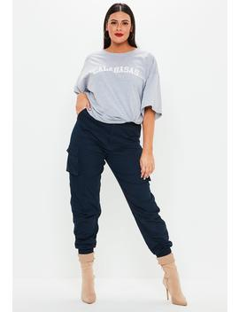 Plus Size Navy Combat Pants by Missguided