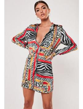 animal-chain-print-oversized-shirt-dress by missguided