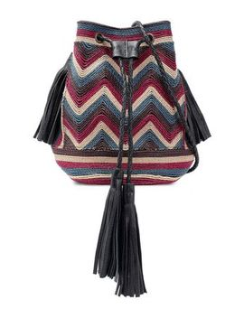 Tikki Embroidered Leather Bucket Bag by Antik Batik
