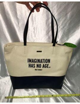 "New Kate Spade Disney Parks ""Imagination Has No Age"" Quote Tote Bag Handbag by Kate Spade"