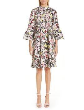 Pop Floral Print Cotton Dress by Erdem