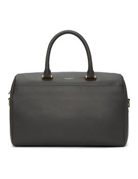 Grey Soft Duffle 6 Bag by Saint Laurent