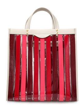 Striped Leather And Pvc Tote by Anya Hindmarch