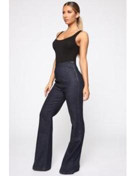 8266241089d75 Shoptagr | Almost Famous Flare Jeans Dark Denim by Fashion Nova
