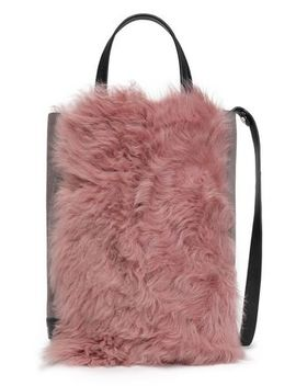 Walker Paneled Suede And Shearling Shoulder Bag by Rag & Bone