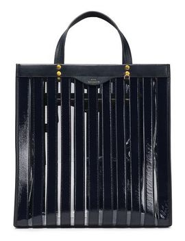 Multi Stripes Leather And Pvc Tote by Anya Hindmarch