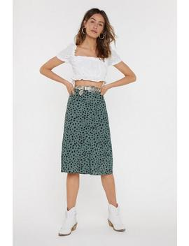 A Certified Spotty Midi Skirt by Nasty Gal