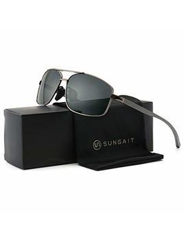 Sungait Ultra Lightweight Rectangular Polarized Sunglasses 100% Uv Protection by Sungait