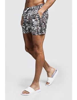 Snake Chain Print Swim Shorts by Boohoo