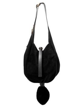 Knot Leather Trimmed Suede Shoulder Bag by J.W.Anderson