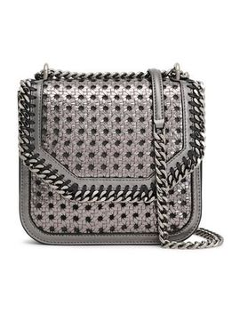 Falabella Box Metallic Woven Faux Leather Shoulder Bag by Stella Mc Cartney