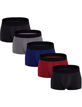 Adolph Men's Boxer Briefs 5 Pack No Ride Up Breathable Comfortable Cotton Sport Underwear by Adolph