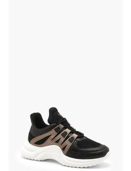 Metallic Retro Sports Trainers by Boohoo