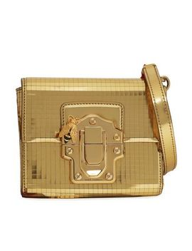 Mirrored Leather Shoulder Bag by Dolce & Gabbana