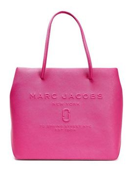 Embossed Textured Leather Tote by Marc Jacobs