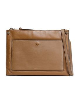 Bianca Smooth And Textured Leather Shoulder Bag by Sandro
