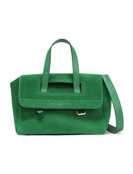 Tool Leather Trimmed Suede Tote by J.W.Anderson