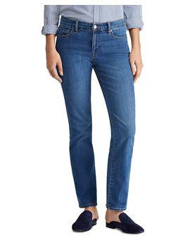 Modern Straight Curvy Jeans In Ocean Blue by Lauren Ralph Lauren