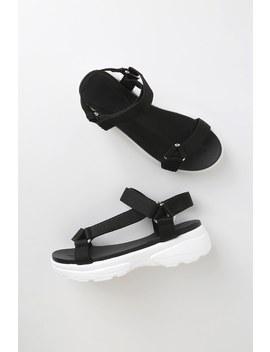 Truman Black Platform Sandals by Lulu's