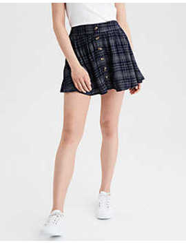Ae High Waisted Plaid Midi Skirt by American Eagle Outfitters