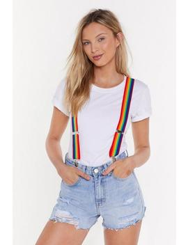 Ain't No Rainbow High Enough Braces by Nasty Gal