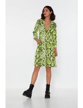 I Lime It Like That Snake Shirt Dress by Nasty Gal