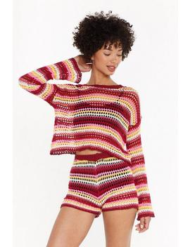 Be Bright Back Crochet Jumper by Nasty Gal