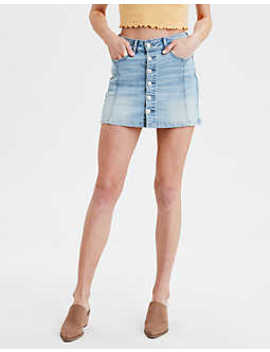 Ae High Waisted A Line Denim Skirt by American Eagle Outfitters