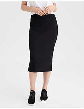 Ae High Waisted Midi Skirt by American Eagle Outfitters