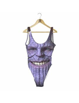 Beloved Shirts Thanos One Piece Swimsuit by Beloved Shirts