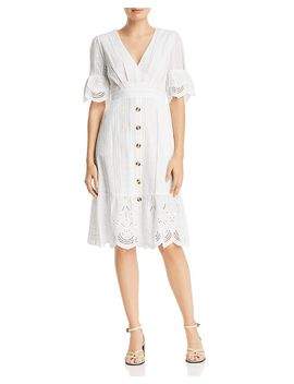 Eyelet Button Front Dress   100% Exclusive by Aqua