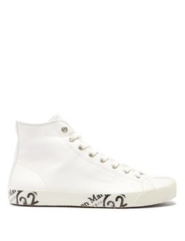 Tabi Split Toe Leather Trainers by Maison Margiela