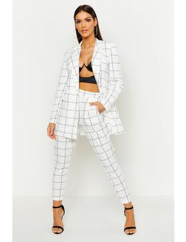 Window Pane Check Tailored Trouser by Boohoo