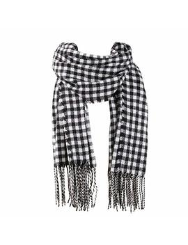 Sojos Womens Plaid Scarf Large Long Blanket Check Wrap Shawl With Tassel Sc315 by Sojos
