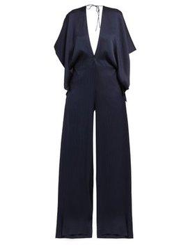 Auclair Wide Leg Hammered Silk Jumpsuit by Roland Mouret