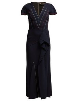 Bates Ruffled Crepe Dress by Roland Mouret