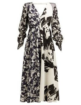 Arthur Abstract Print Midi Dress by Roland Mouret