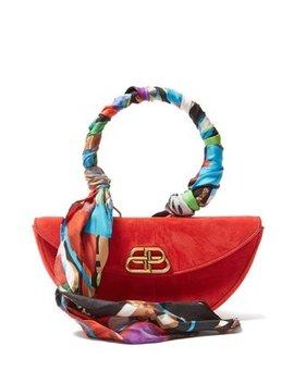 Opera Suede Clutch Bag by Balenciaga