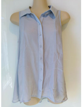 Cue Silver Shimmer Blouse Top. Size 8. Made In Australia by Cue