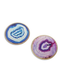 4ct Geode Glass Coasters   Kate Aspen by Kate Aspen