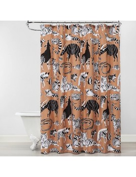 Wildlife Shower Curtain Brown   Opalhouse by Opalhouse