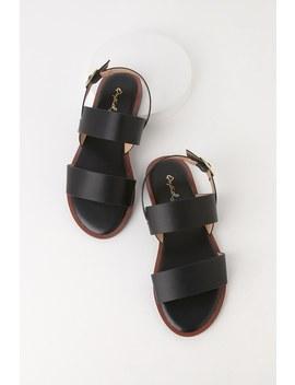 Carrie Anne Black Flat Sandals by Lulu's